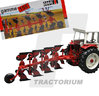 Replicagri 103 IH 155 Plough with 4 Corps 1/32