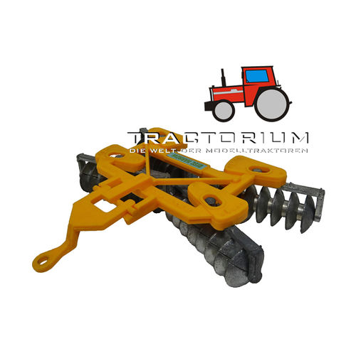 Britains 9553 Disc Harrow yellow 1/32