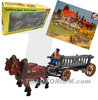 Bully Farm 11021 Horses with Farm Wagon ca. 1/30