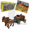 Bully Farm 11022 Horses with Tank Wagon ca. 1/30