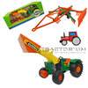 Gama 4321191 Deutz 06 Traktor with Frontloader and Claas Swather 1/16
