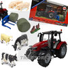 Britains 43205 Spielset Massey Ferguson 5612 with Bale Lifter and Animals 1/32