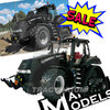 MarGe Models 1807 Case Magnum 380 CVX  Rowtrac Limited Black Edition 1/32