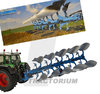 Universal Hobbies 4183 Lemken Juwel 8 Plough with silver Mouldboard Body Limited Edition1/32