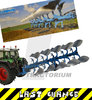 Universal Hobbies 4184 Lemken Juwel 8 Plough with silver Mouldboard Body Limited Edition1/32