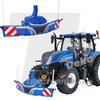 Universal Hobbies 6251 Tractorbumper Safetyweight 800 kg Holland Style blue 1/32
